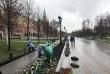 Завершено озеленение Александровского сада Московского Кремля в 2018 году.